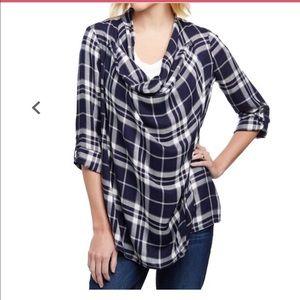 Plaid Nursing Shirt/Cardigan/Cover Small